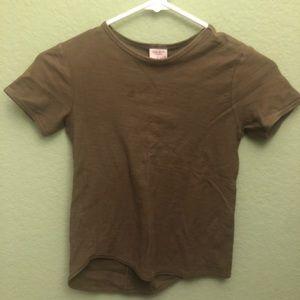 Zara boys Olive green tshirt size 6
